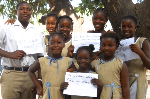 Students from the Sabu International School, in Conakry, Guinea, 2012 (bbc.co.uk)