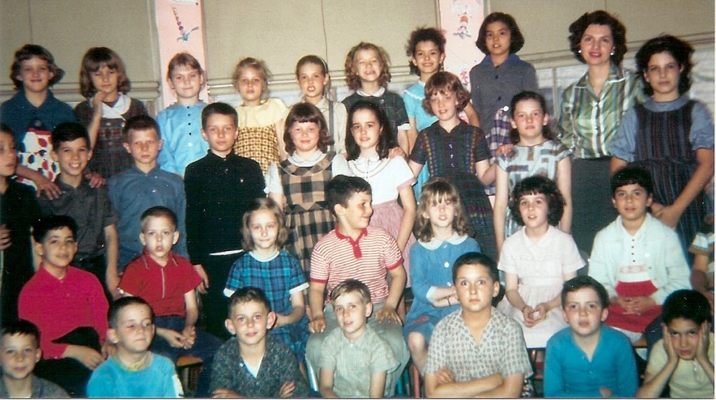 """""""Seth C. is the first boy in the second row of my third-grade class at the Laboratory School during the 1963-64 school year."""""""
